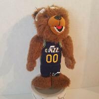 "Utah Jazz Classic Logo Plush Bear 8.5"" Forever Collectibles Rare Stuffed Animal"