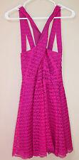 Victoria's Secret Pink Magenta Criss Cross Lace Sun Dress Halter 4 Spring Summer