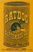 Ratdog Roseland Portland OR Paper Promotional Poster Bob Weir VG