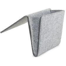 Bedside Pocket Felt Caddy,Organizer for Phone,Remote,Magazine Cardboard Inserted