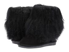 Bearpaw Boo Youth Black Big Kids Girls Winter Boot Size Us 4 Youth Eur 35