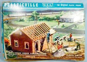 Plasticville House Under Construction Kit 1624 100 Vintage O Scale 1950s # 1