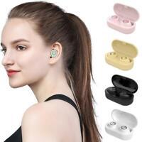 Bluetooth 5.0 Headset Mini TWS Wireless Earphone In-Ear Headphone Stereo Ea O7Q6