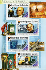 Guinea 2015 MNH PENNY BLACK 175th ANNIV 4V M / S ROWLAND HILL stamps-on-stamps