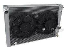 "1989-1996 Chevy Corvette Radiator & 2-10"" Fans, 2 Row 1"" Tubes American Eagle"