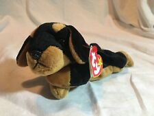 RARE RETIRED - Doby the Dog - Ty Beanie Baby - Doberman Pinscher -MWMT
