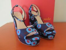 Kate Spade New York - Dellie Wedges - Size 8M - Peacock Blue Majorelle - NEW