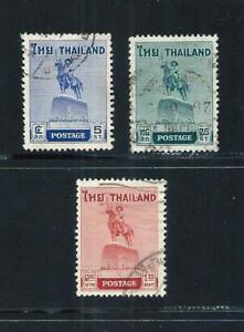 THAILAND _ 1955 'KING TAKSIN' SET of 3 _ USED ____(691)