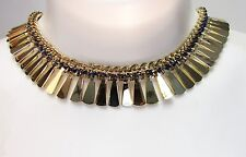 Steve Madden Gold & Blue Rope Statement Necklace NWT