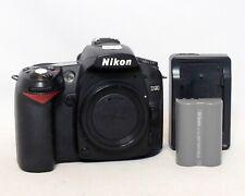 Nikon D90 12.3MP Digital Camera Body DSLR 1x EN-EL3e Battery MH-18a SC 8139