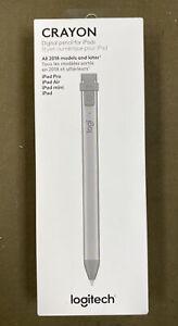 Logitech Crayon (914-000051) - Digital Pencil for iPad 6th Gen - Gray.....NEW!!!