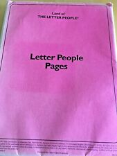 Land of THE LETTER PEOPLE  - LETTER PEOPLE PAGES -1997-  with Free Shipping
