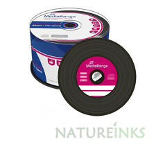 50 Mediarange Noir Bas Vinyle Blank CD-R disque 52x 700MB 80 min Cakebox MR225