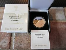 2013 Australian 1 oz .999 Silver Kangaroo In The Outback Coin - FAB 15 PRIVY