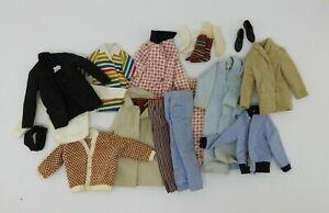 Vintage Barbie Ken Doll Clothing Lot Jackets Coat Pants Socks Shoes
