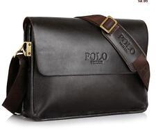 Mens Leather Briefcase Laptop Shoulder Messenger Handbag for iPad Bag 33*24*7cm