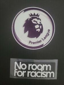 2021/22 Premier League & no room for racism Patch Set Parche Iron on Badge