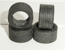 Scalextric - W8103 Wide Profile Ribbed Tyres for 1990s Saloons x4 - NEW