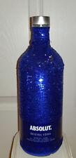 ABSOLUTE Vodka 2017 collectible EUROPEAN 1 Liter empty bottle blue skin sequins