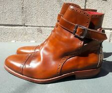 Vivienne Westwood Men's Brown Leather Oxford Boots Strap Size 44