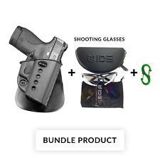 BUNDLE Fobus paddle retention holster for walther pps / s&w m&p shield 9mm .40