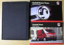 VAUXHALL VIVARO OWNERS MANUAL HANDBOOK WALLET 2006-2014 PACK