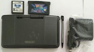 Nintendo DS Original Black Handheld System Console Bundle Lot w/ Games & Charger