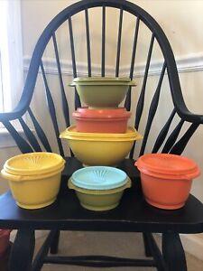 Vintage Tupperware Bowls & Lids 12 Piece