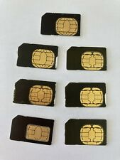 Nextel 128K Sim Cards For all Sprint Nextel Iden Phones Simgus103R Lot of 7