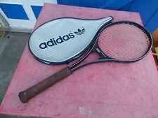 raquette de tennis vintage Adidas Tornado L 4 avec housse