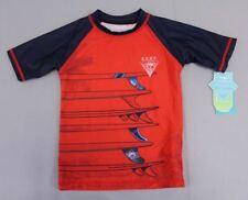 Noruk Nano Boy's Short Sleeve S.U.R.F. Wave Printed Rashgaurd AB4 Red Size 4 NWT