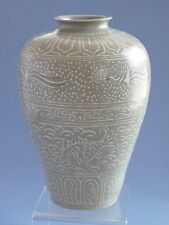 Korean Koryo Dynasty 12th to13th century Patterns of birds and fish Vase(高麗瓷花瓶)