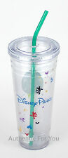NEW Disney Parks Starbucks Cold Cup - Venti 24 oz Acrylic Tumbler with Straw