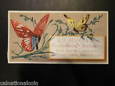 H.N. Brooks & Co. Booksellers & Stationers Antique Trade Card
