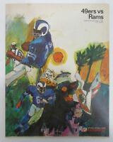 1967 San Francisco 49ers vs. LA Rams NFL Illustrated Program 128507