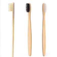 1x Pure Natural Wood Bamboo Organic Toothbrush Soft Bristle Biodegradable Handle