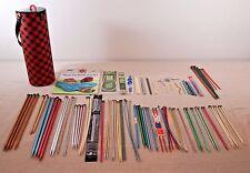 YARN HOLDER Knitting Needles Crochet Hooks Book Boye Bates Clover Bamboo Wood