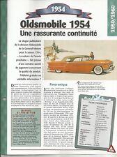FICHE AUTOMOBILE OLDSMOBILE 1954