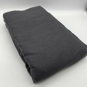 New Colin 100% Pure Linen Lined Curtain Flemish Pleats 220cm AM.PM Designer Grey