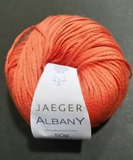 "1 JAEGER ""ALBANY"" WORSTED RIBBON YARN Orange 100% Mercerized Cotton 50g/115y"