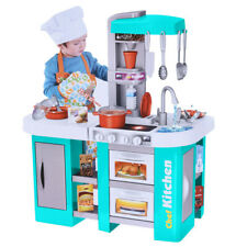 Kitchen Playset For Girls Pretend Play Toy Cooking Set Light & Water Sound Kid*