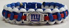 New York Giants Red, White & Royal Blue Handmade Paracord Bracelet or Lanyard