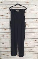 H&M Women's Black Strapless Pant Romper Size 10