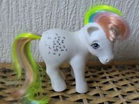Vintage My Little Pony MLP G1 Confetti Rainbow UK / Euro 1983 White Very Rare