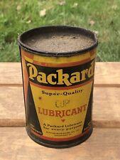 Vintage Original PACKARD Lubricant Garage Auto Car 1 Pound Metal Tin Can