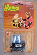 Vintage Dolls House Small Metal Mattel The Littles Range Cooker & Pans MOC