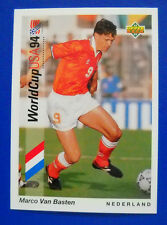 CARD UPPER DECK 1993 WORLD CUP USA 94 - N. 36 - VAN BASTEN - OLANDA