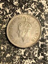 1941 India 1 Rupee Lot#L9383 Silver! Nice!