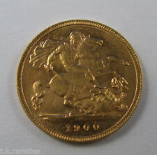 1900m Victoria half sovereign. Be quick for this RARE key date coin -  MELBOURNE