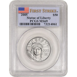 2005 American Platinum Eagle 1/2 oz $50 - PCGS MS69 First Strike